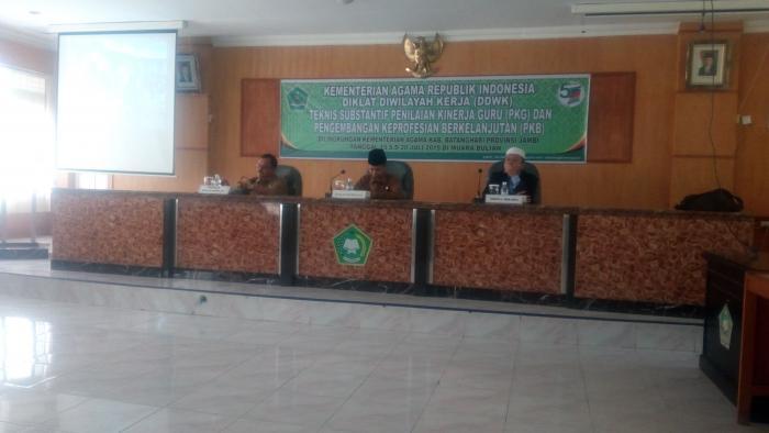 Kepala Kantor Kementerian Agama Kabupaten Batanghari Buka Secara Resmi DDWK